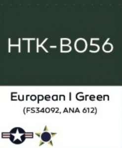 Hataka B056 European I Green FS34092 - farba akrylowa 10ml