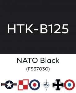 Hataka B125 NATO black - farba akrylowa 10ml