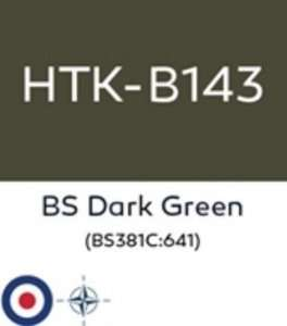 Hataka B143 BS Dark Green - farba akrylowa 10ml
