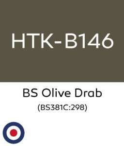 Hataka B146 BS Olive Drab - farba akrylowa 10ml
