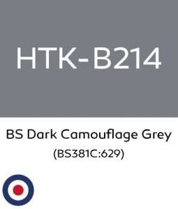 Hataka B214 BS Dark Camouflage Grey - farba akrylowa 10ml