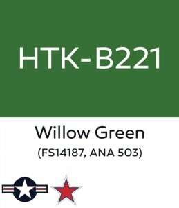 Hataka B221 Willow Green - farba akrylowa 10ml