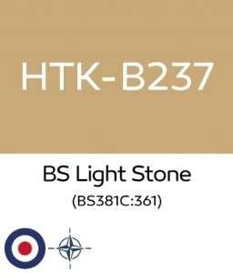 Hataka B237 BS Light Stone - farba akrylowa 10ml