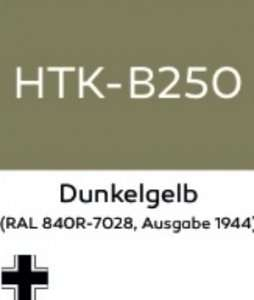 Hataka B250 Dunkelgelb - farba akrylowa 10ml
