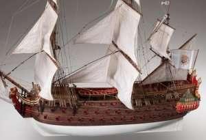 Hiszpański galeon Nuestra Senora - drewniany model w skali 1-50