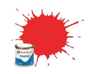 Humbrol 209 Fluorescent Fire Orange Gloss - emalia 14ml
