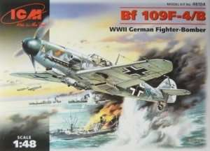 ICM 48104 Bf 109F-4B WWII German Fighter-Bomber