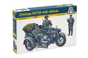 Italeri 317 Zundapp KS 750 with Sidecar