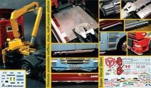 Italeri 3854 Akcesoria cz. II do ciężarówek kalkomania skala 1-24
