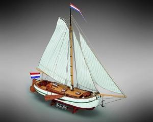 Jacht Catalina Mamoli MV51 drewniany model statku w skali 1-35