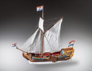 Jacht holenderski - drewniany model w skali 1-48 nr D023