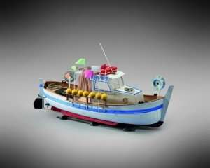 Kuter Moby Dick - Mamoli MM72 - drewniany model w skali 1-35