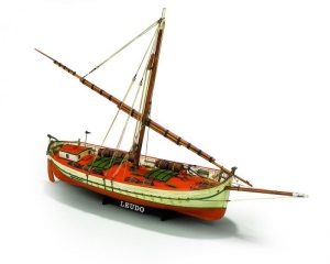 Łódź Il Leudo Mamoli MV29 drewniany model statku w skali 1-32