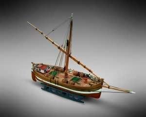Łódź Leudo - Mamoli MM65 - drewniany model w skali 1-72