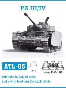 Metalowe gąsienice do czołgów PZ III/IV