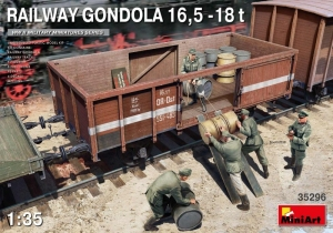 MiniArt 35296 Wagon gondola 16,5 - 18 t skala 1-35