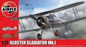 Model samolotu Gloster Gladiator Mk.I Airfix 02052