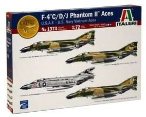 Model F-4 C/D/J Phantom II Aces USAF Italeri 1373