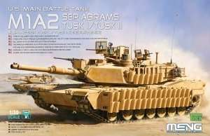 Model Meng TS-026 US Main battle tank M1A2 Abrams Tusk I/II