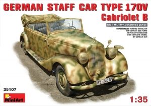 Model MiniArt 35107 German Staff Car Typ 170V Cabriolet