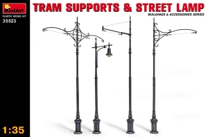 Model MiniArt 35523 Tram supports and Street Lamps