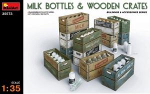 Model MiniArt 35573 Milk Bottles & wooden crates