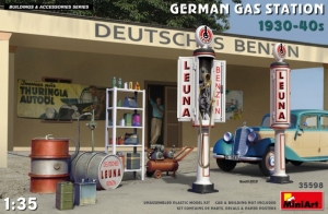 Model MiniArt 35598 German Gas Station 1930-40s