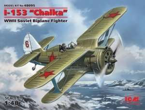 Model Polikarpov I-153 Chaika soviet fighter