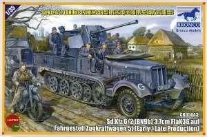 Model Sd.Kfz.6/2 3.7cm Flak36 auf Fahrgestell Zugkraftwagen 5t Bronco 35043