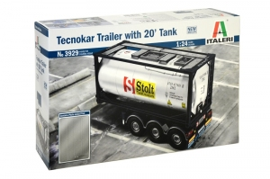 Model cysterny Italeri 3929 Tecnokar Trailer with 20' Tank