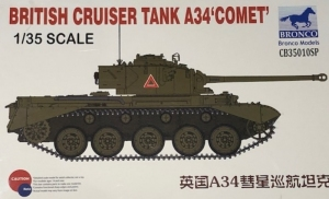 Model czołgu A34 Comet do sklejania Bronco CB35010SP