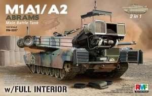 Model czołgu Abrams M1A1 M1A2 z wnętrzem RFM 5007