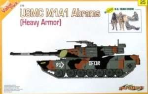 Model czołgu Abrams M1A1 z załogą Dragon 9125