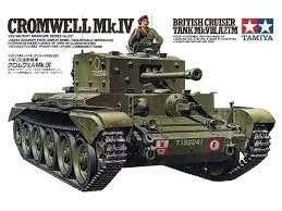 Model czołgu Cruiser Tank Mk.VIII A27M Cromwell Mk.IV Tamiya 35221
