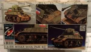 Model czołgu M3A3 z działem PaK 40 skala 1-35 DH96001