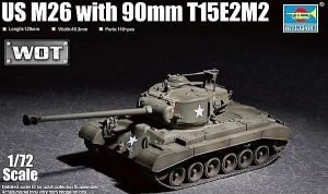 Model czołgu US M26 with 90mm T15E2M2 Trumpeter 07170