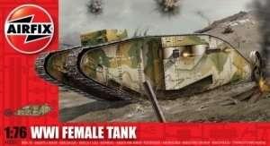 Model czołgu WWI Female w skali 1:76 Airfix 02337