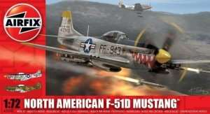 Model myśliwca North American F-51D Mustang Airfix 02047
