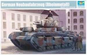 Model niemieckiego czołgu Neubaufahrzeug Trumpeter 05528