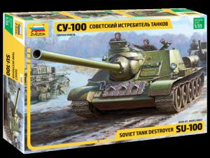 Model niszczyciela czołgów SU-100 Zvezda 3688