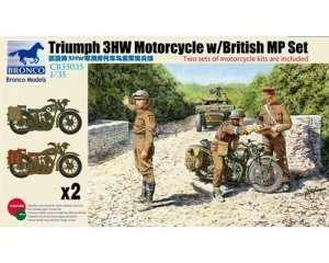 Modele motocykli British Triumph 3HW Motorcycle with British Military Police