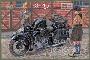 Motocykl BMW R12 z przyczepą boczną IBG 35001