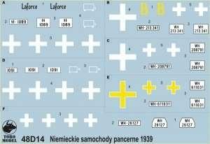 Niem. samochody pancerne w kampanii wrześniowej skala 1-48
