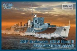 ORP Krakowiak 1944 niszczyciel skala 1-700 IBG 70003