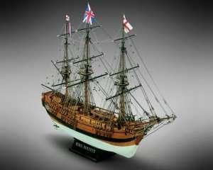 Okręt Bounty - Mamoli MV39 - drewniany model w skali 1-64
