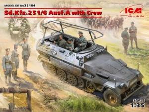 Pojazd dowodzenia Sd.Kfz.251/6 Ausf.A i figurki ICM 35104