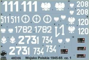 Polska kalkomania - Wojsko Polskie 1945-65 cz.1 skala 1-48