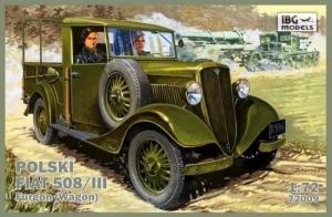 Polski Fiat 508/III furgon IBG 72009 skala 1-72