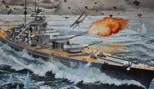 Revell 05040 Okręt wojenny - pancernik Bismarck