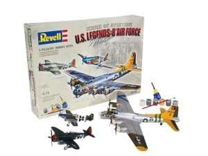 Revell 05794 U.S. Legends: 8th Air Force - P-47D, P-51B, B-17G